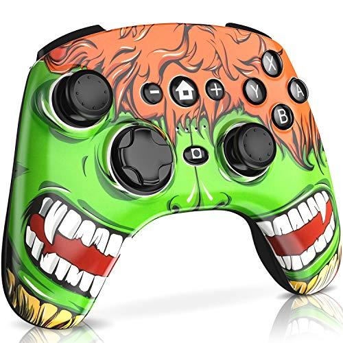 Extra Wireless Controller (DinoFire Wireless Controller für Nintendo Switch PXN Remote Pro Controller mit extra schwarz-grüner Abdeckung)