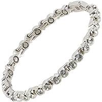 Sisto-X® Magnetarmband für Damen, Tennis-Stil, Kristalle, 16 Magnete preisvergleich bei billige-tabletten.eu