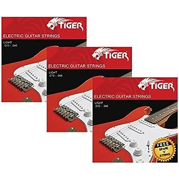 tiger electric guitar strings pack of 3 light 10 46 sets musical instruments. Black Bedroom Furniture Sets. Home Design Ideas