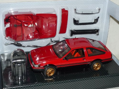 DISM Toyota Corolla Levin Ae86 Ae 86 1983 Rot Coupe 1/24 Hot Works Racing Modellauto Modell Auto