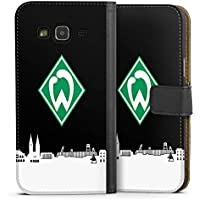 Samsung Galaxy J3 Duos 2016 Tasche Leder Flip Case Hülle Werder Bremen Skyline Fanartikel