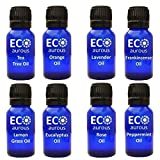 We Offer Organic, Pure and Natural Essential Oils. Each oil in our 8-pack set is filled in glass bottles, that shield the oils from being de-sharpened, which debilitates their aroma and their healing properties. Each bottle comes with a Dropper Cap t...