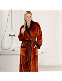 dba6607188 Goezze 20014-85-3 silk feeling bath robe with shawl collar