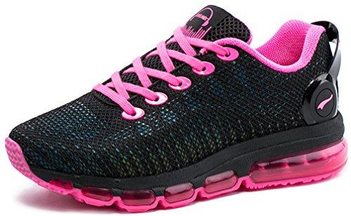 ONEMIX Air Scarpe da Ginnastica Donna Basse Corsa Sportive Fitness Casual Sneakers Nero/Roso 40 EU