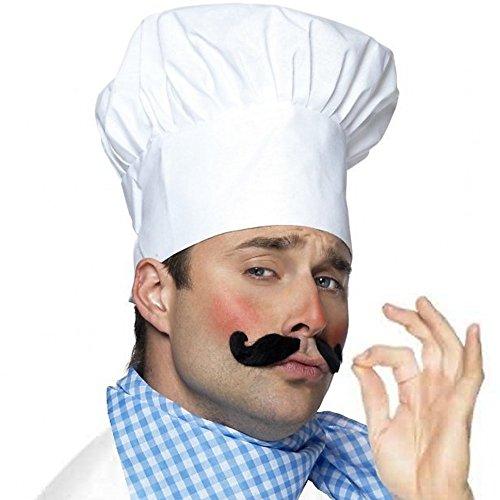 German Trendseller® - Kochmütze Weiß Deluxe ┃ Le Chef ┃ Chefmütze