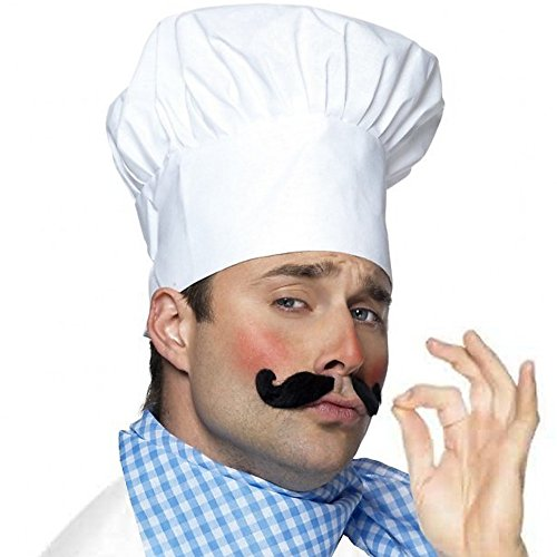 German Trendseller Kochmütze Weiß Deluxe ┃ Le Chef ┃ Chefmütze - Deluxe Lupe