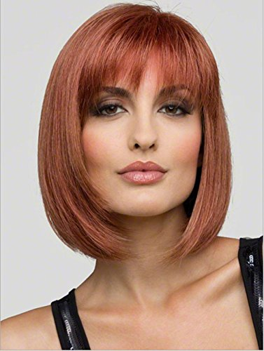 Meylee Perücken Kurze Bobo/Student glattes Haar Perücke schlanke Gesicht Frisur + eine kostenlose Perückekappe , picture (Jahre 50er Frisuren Mädchen)