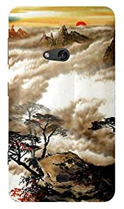 TrilMil Printed Designer Mobile Case Back Cover For Nokia Lumia 625