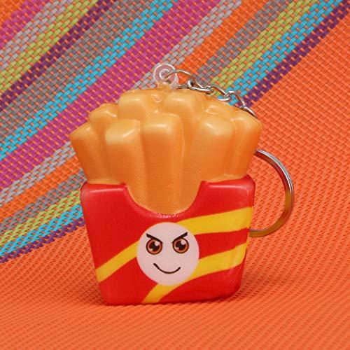 Mitlfuny Kawaii Langsam Dekompression Creme Duftenden Groß Squishy Spielzeug Squeeze Spielzeug,Squishies Kawaii Cartoon Chips Langsam steigende Creme duftender Schlüsselanhänger ()