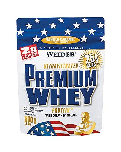 Weider, Premium Whey Protein, Vanille-Karamell, 1er Pack (1 x 500g) (Egg Vanille Protein)