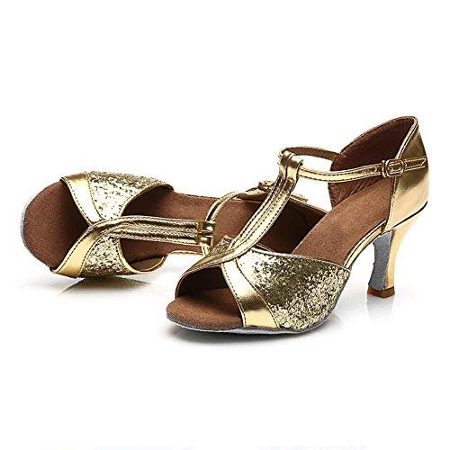 HROYL Womens Standard Latin//Modern//Samba//Chacha Dance Shoes Sequins Ballroom 259