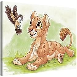 Premium Kunstdruck Wand-Bild - Kids Selection - Hi Birdie - 100x75cm - Leinwand-Druck in deutscher Marken-Qualität – Leinwand-Bilder auf Holz-Keilrahmen als moderne Wanddekoration