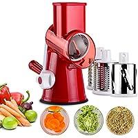 Artbest - Mandolina de cocina multifunción, cortador de verduras, picadora manual de alimentos
