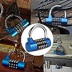 Surplex-Lucchetto-A-5-Cifre-Con-Combinazione-Azzerabile-blocco-di-sicurezza-serratura-con-numeri-in-lega-di-zinco-per-Outdoor-Gym-Scuola-Ufficio-Casa-Bicicletta-Valigia-Bagagli-Zaino-blu