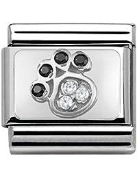 Nomination Unisex-Charm 925 Silber Zirkonia Mehrfarbig - 330304/14