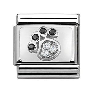 Nomination Unisex-Charm 925 Silber Zirkonia Mehrfarbig – 330304/14