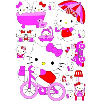 KIDS WALL STICKERS, LARGE HELLO KITTY, GIRLS BEDROOM WALL STICKERS, BEDROOM  DECOR Part 38