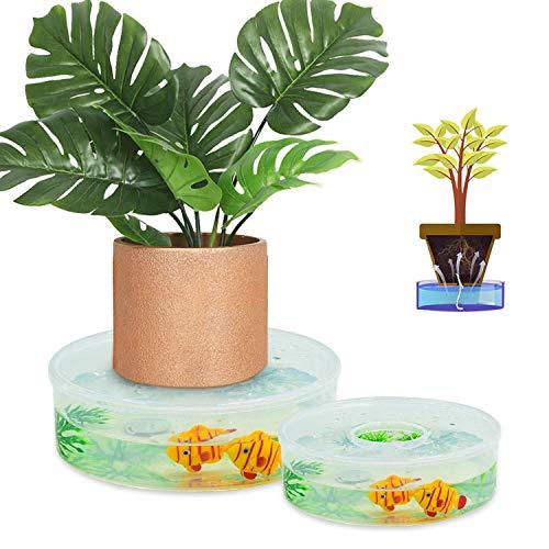 FEIGO Pflanzen Automatischen Bewässerung Blumentopf 2 Stück Bewässerungssystem Einstellbar Kräutertopf zur Pflanzen Bewässerung und Blumen Bewässerung ideal als Urlaubsbewässerungssystem