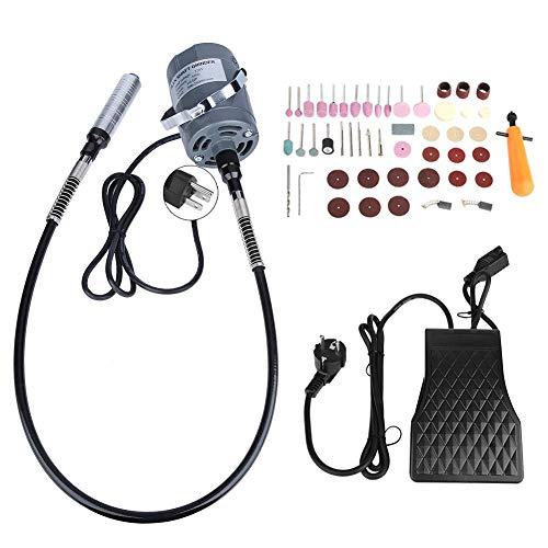 Smerigliatrice flessibile per alberi 53 pezzi Kit smerigliatrice elettrica flessibile velocità variabile AC220V con pedale