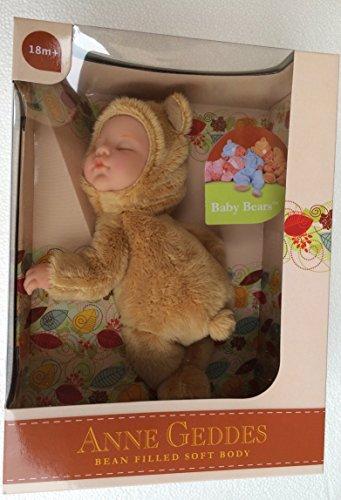 NEW Anne Geddes , DOLL cm.23 BABY BEARS (Bear Geddes Anne Baby)