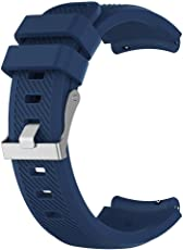 Tomtopp 22mm Silicone Watch Strap for HUAMI Amazfit 1/2 Generation(Navy Blue S)