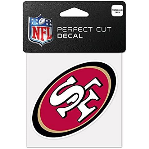 NFL San Francisco 49ers 63074011 Perfect Cut Color Decal, 4 x 4, Black by WinCraft