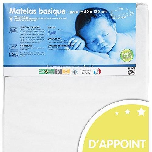 BABYCALIN - Matelas bébé d'appoint -  pour lit 60 x 120