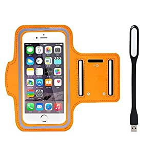 New Hot (4.3) Arm Band Workout Cover Sport Gym Case For Zte Anthem 4G With USB Led Light