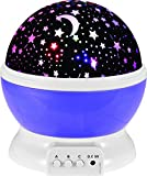 StillCool® Sun and Star lighting Lamp 4 LED beads 360 Degree Romantic Lamp Relaxing Mood Light Projector for Baby Nursery Bedroom Children Room and Valentine's Gift (Purple)