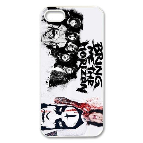 Apple iPhone 5/iPhone 5S Case Coque de protection Case-Bring Me The Horizon bmth TPU Étui Coque de Protection pour iPhone 55S (Blanc/Noir)