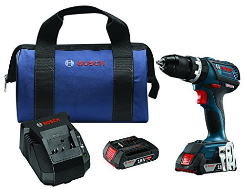Bosch HDS183-02 18V EC Brushless Compact Tough 1/2 Hammer Drill/Driver Kit by Bosch