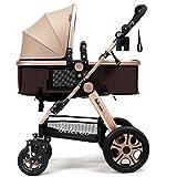 Kinderwagen, leichter Kinderwagen, hochkarätiger Kinderwagen, liegende Faltwagen, Kinderwagen ( Farbe : Khaki )