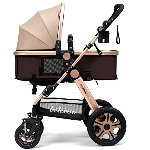 Preisvergleich Produktbild Kinderwagen, leichter Kinderwagen, hochkarätiger Kinderwagen, liegende Faltwagen, Kinderwagen ( Farbe : Khaki )