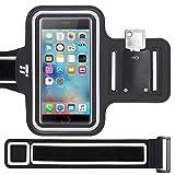 TaoTronics Brassard de sport Smartphone Résistant à l'eau avec Bande d'Extension et Range-clés pour iPhone 8/7/6S/SE, Galaxy S7 jusqu'à 5.1'' – Pour course, vélo, randonnée & marche
