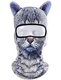 Minla 3D Diseño Pasamontañas Unisex Hat Multiusos Sombrero de Deportes al Aire Libre Cara Máscara Cráneo Cap Party