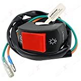 #2: AllExtreme Motorcycle 7 / 8 Inch Universal Handlebar Mounting Switch DC 12V for Motorbike Fog Lamp Head Light Electrical System