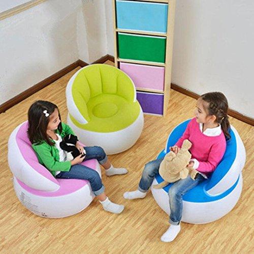 Aufblasbare Liege Couch, tragbar Wasserdicht strapazierfähiges Nylon Outdoor AIR Sofa für Camping, Park, Strand, Backyard (Blau) - 5