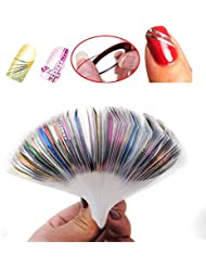 Coscelia 30 pcs Nail Sticker Fil Bandes Striping Tape Autocollant Manucure Faux Ongle Nail Art Tips