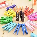 SZTARA 50 Pcs Colourful Wood Clothespin Memo Paper - Best Reviews Guide