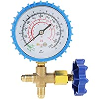 "Manómetro, 1/4"" 220 psi manómetro para recarga de refrigerante R410A R22 R134A"