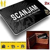 CKB Ltd® 2x DOUBLE PACK SCANJAM™ Protection Carte RFID Protecteur de carte de crédit et blocage de tous les signaux RFID/ NFC Passe dans votre porte-monnaie et votre sac 100% Protection