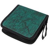 Sonline40 Disco Fashion Mappa Porta CD DVD di immagazzinaggio della cassa del manicotto Box Wallet Bag Album Zipper - verde