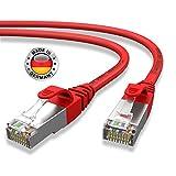 AIXONTEC® I Netzwerk-Kabel Cat6 12m Rot Patch-Kabel Ethernet-Kabel Powerlan Gigabit Ethernet Kupfer pimf Twisted-Pair-Kabel rj45 Kabel I Switch Router Server PC Laptop Scanner Access Point Modem