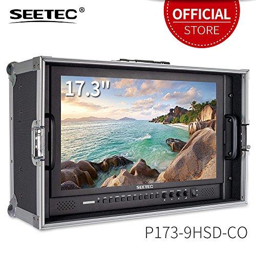 "Seetec P173-9HSD-CO Kamera Feld Monitor Pro Broadcast 17.3"" 4K Ultra UHD 1920x1080 LCD Bildschirm 16:9 Carry-on Alu Gehäuse mit SDI HDMI YPbPr DVI AV für Camera Hochzeit Sport Konferenz"
