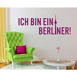 arslinea Wandtattoo - Ich bin ein Berliner, 60x23 cm, gold