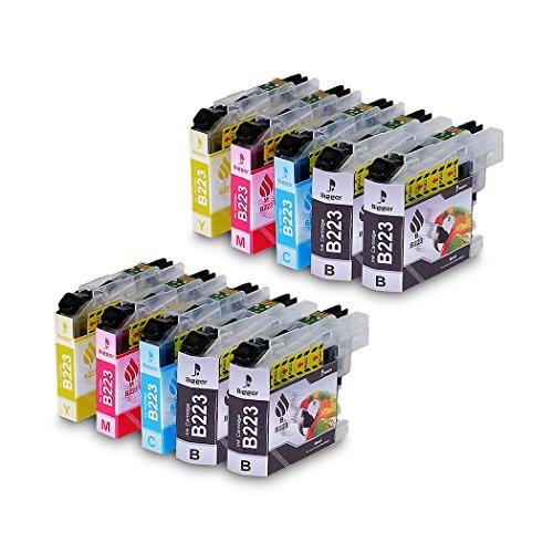 LC223XL - Cartuchos de tinta compatibles con Brother LC223 Bigger para Brother DCP-J4120DW MFC-J5320DW DCP-J562DW MFC-J880DW MFC-J5620DW MFC-J680DW MFC-J4625DW MFC-J5720DW J4420DW J4620DW, color 4BK/2CY/2MG/2YL