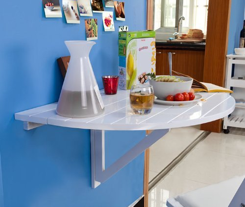 SoBuy Tavolo pieghevole a muro, tavolo pieghevole,semicircolare FWT10-W