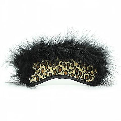 Nightclub Stage Show Props Leopard Eye Mask / Feather Black