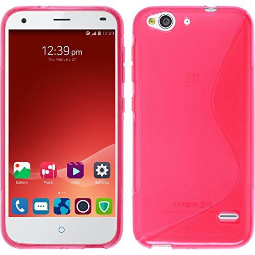PhoneNatic Case für ZTE Blade S6 Hülle Silikon pink S-Style Cover Blade S6 Tasche Case