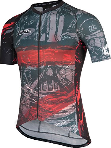 8f0d2b761 Bioracer Spitfire Star Wars Art Short Sleeve Jersey Men red black Size M  2017 Short Sleeve Cycling Jersey